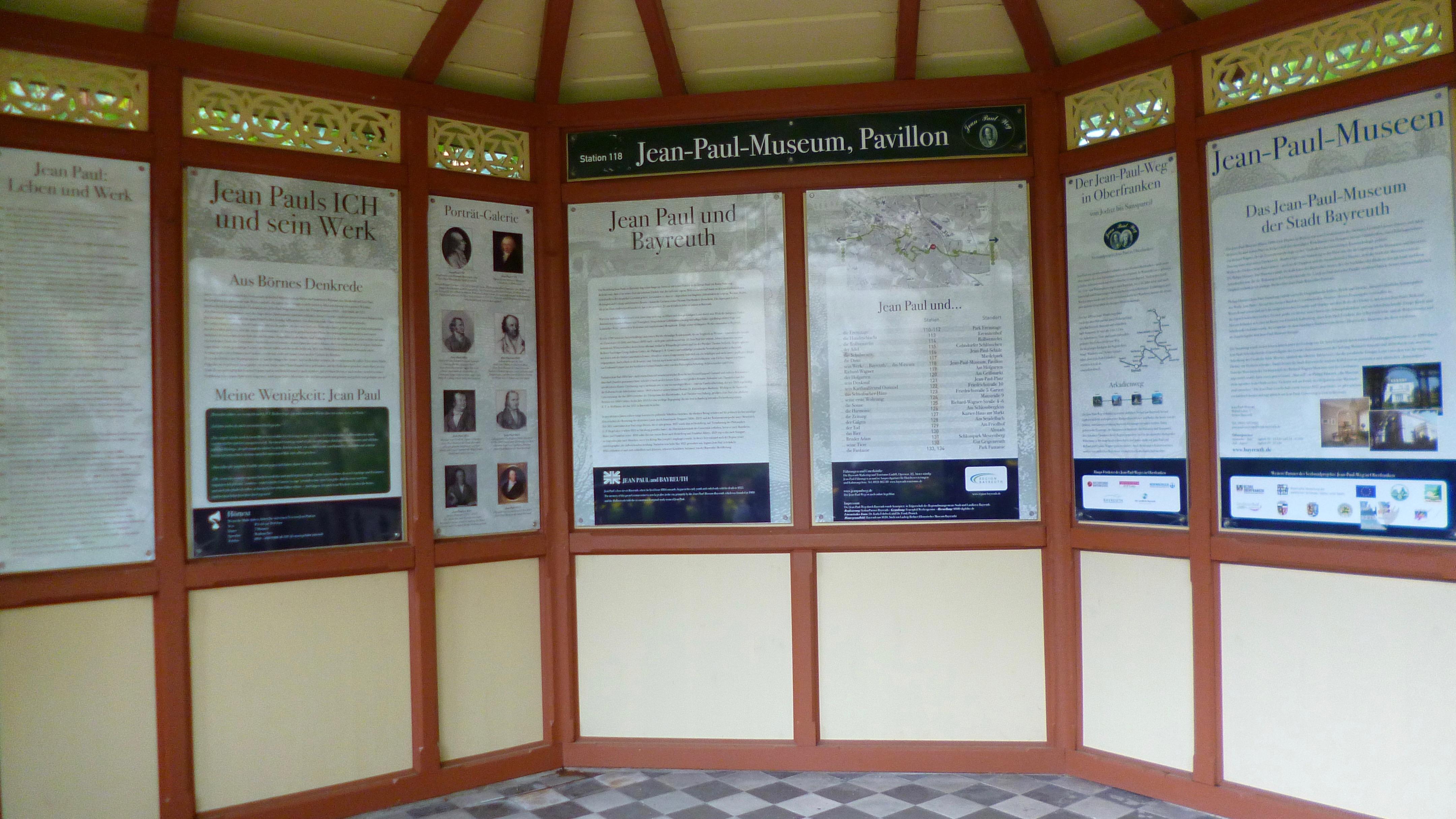 Groß- und Sonderstation 118 »Jean Pauls Ich & sein Werk«  im Gartenpavillon des Jean-Paul-Museums