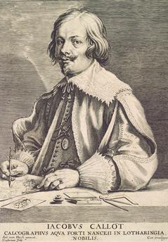Jacques Callot, von Lucas Vorsterman (1595-1675) nach Anthony van Dyck  Gemeinfrei
