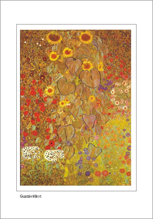 Nr. 0/115 Gustav Klimt, Bauerngarten mit Sonnenblumen