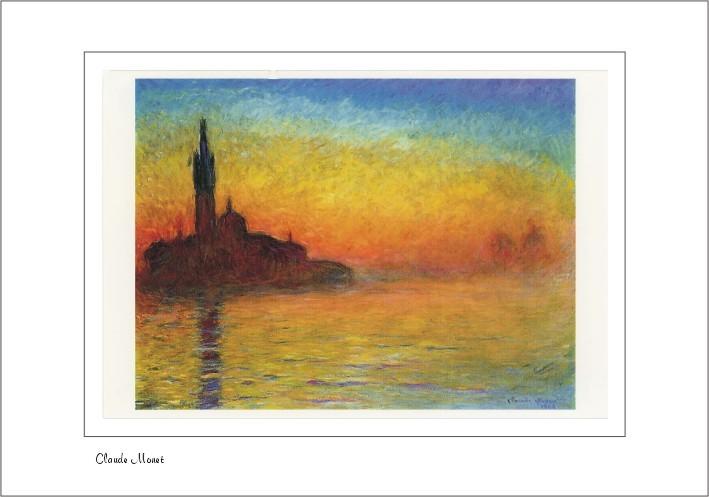Nr. 0/142 Calude Monet, Dämmerung (Venedig) 1908