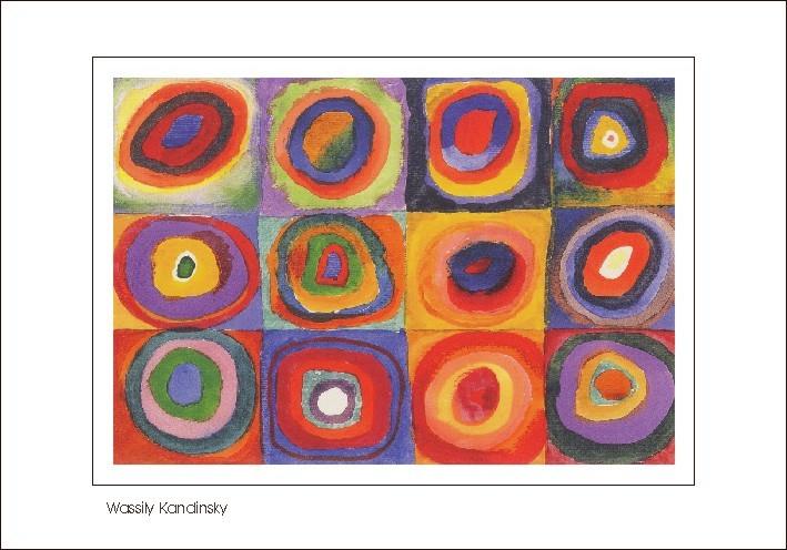 Nr. 0/127 Wassily Kandinsky, Farbstudie: Quadrate mit konzentrischen Ringen, c. 1913