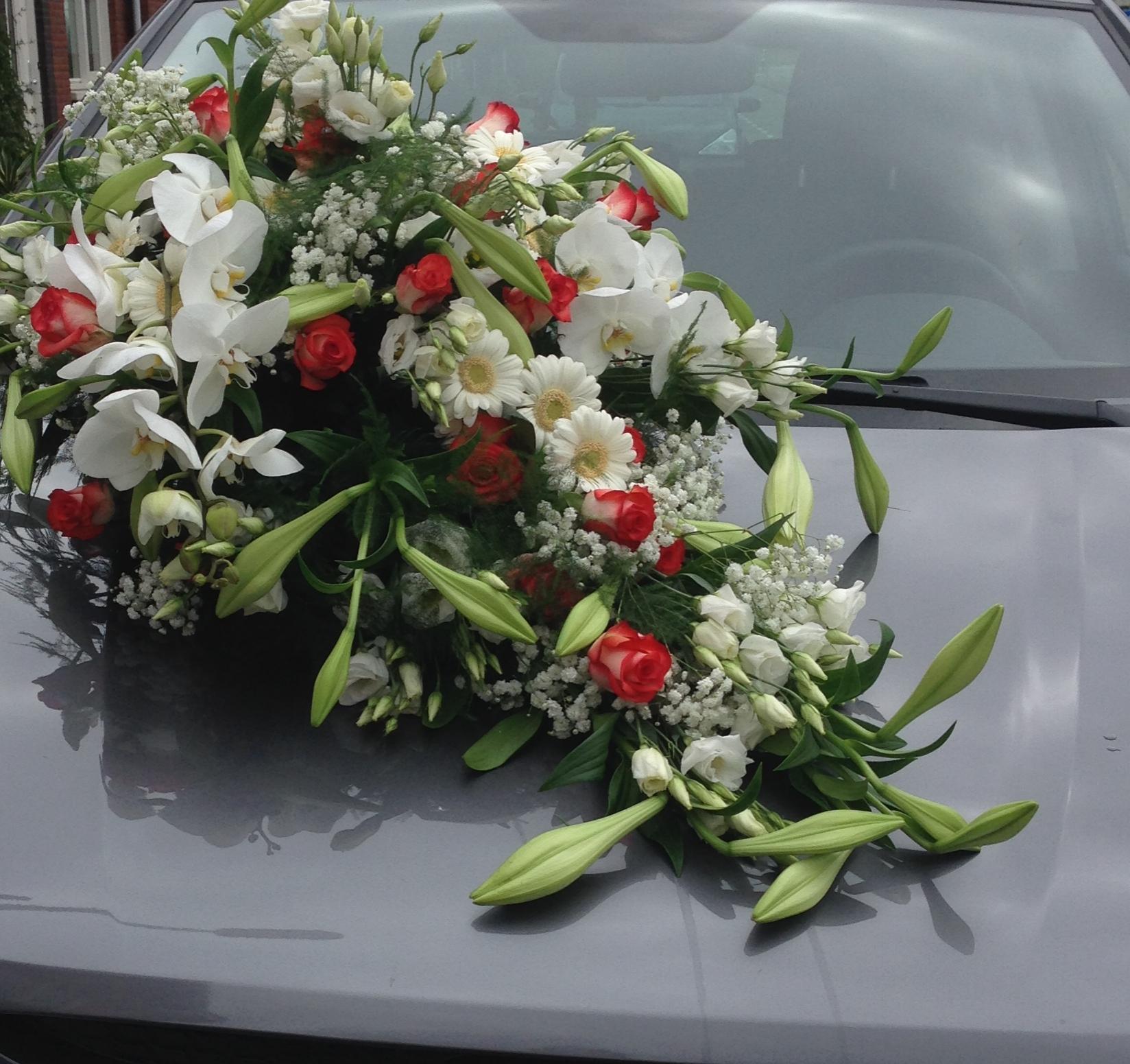 Autostuk wit/rood