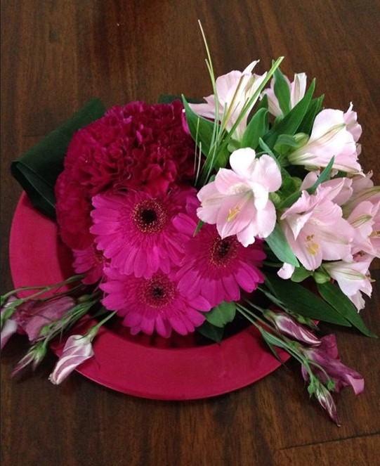 Tafelstuk Roze