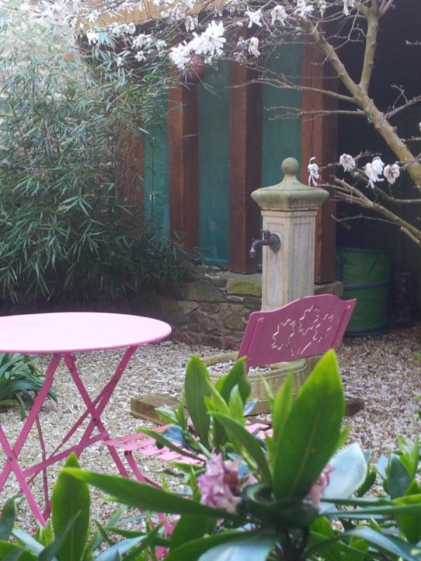 le patio au printemps