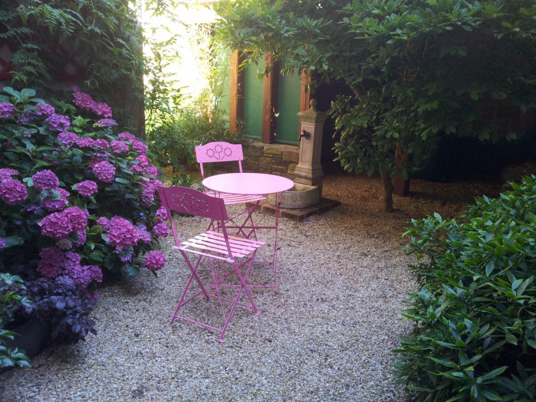 le patio en été