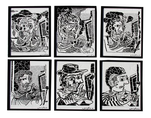 """""""O Pintor I"""" - 43x33 cm (cada um)"""