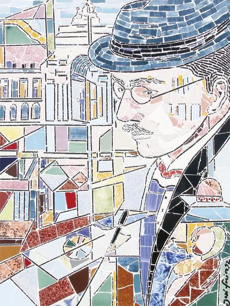 """""""Fernando Pessoa - Olhar Sobre Lisboa"""" - 56x42 cm"""