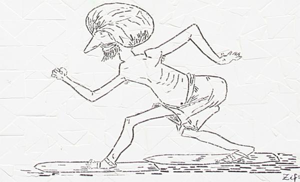 """""""Corrida de Esqui"""" - 43x33 cm"""