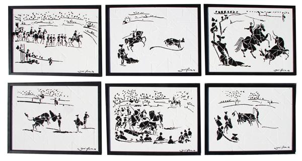 """""""Cenas de Tourada I"""" - 43x33 cm (cada um)"""