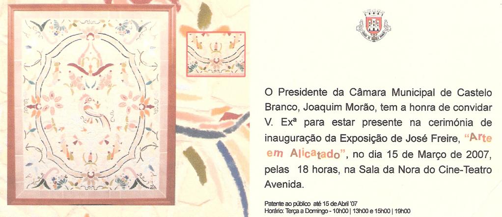 Convite Exposição de Castelo Branco