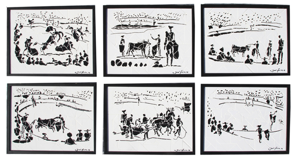 """""""Cenas de Tourada II"""" - 43x33 cm (cada um)"""