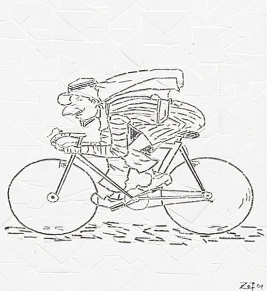 """Corrida de Bicicleta"" - 43x33 cm"