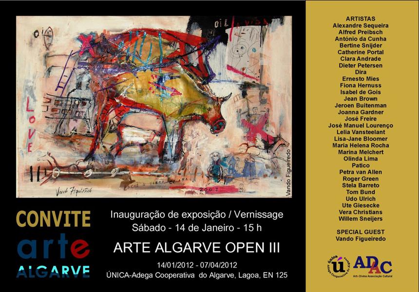 Convite Exposição Arte Algarve 2012