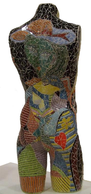 """""""Busto Masculino"""" (Verso) - 82x35x23 cm"""