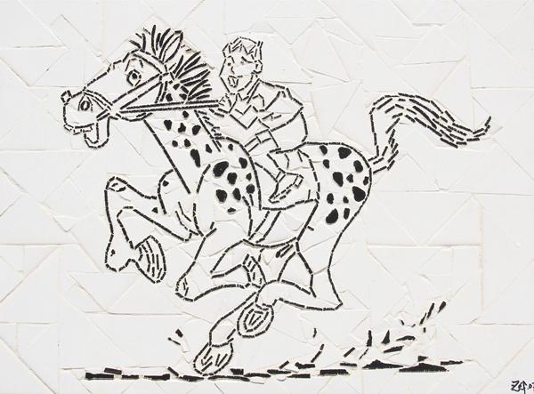 """""""Corrida de Cavalo"""" - 43x33 cm"""