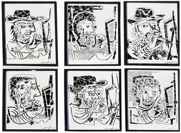 """""""O Pintor II"""" - 43x33 cm (cada um)"""