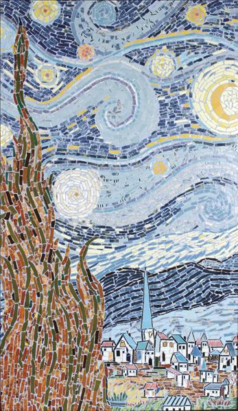 """""""Noite Estrelada"""" - 82x55 cm"""