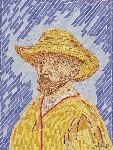 """""""Auto-Retrato de Van-Gogh"""" - 56x42 cm"""