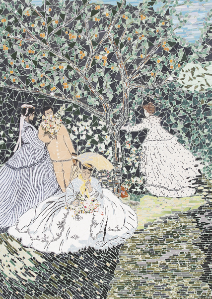 """""""Meninas no jardim"""" - 125x95 cm"""