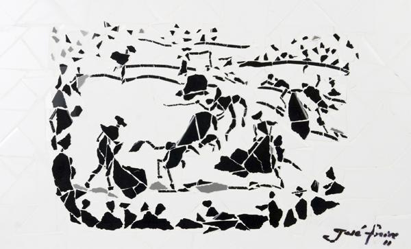 """""""Cena de Tourada"""" - 43x33 cm"""