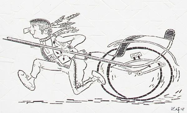 """""""Corrida de Carroça"""" - 43x33 cm"""
