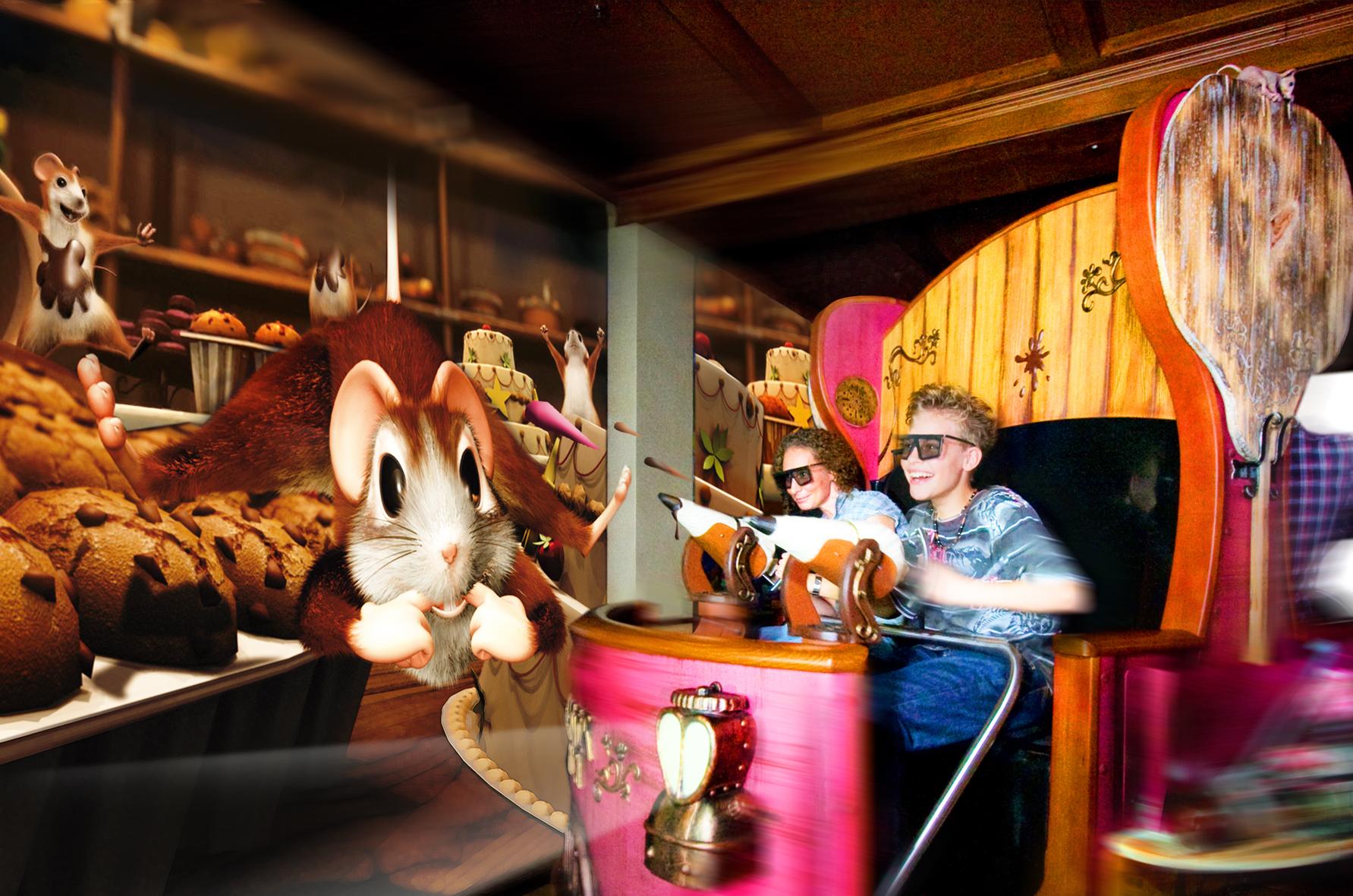 Maus au Chocolat, interaktive Familien-Attraktion in 3D - europaweit einmalig