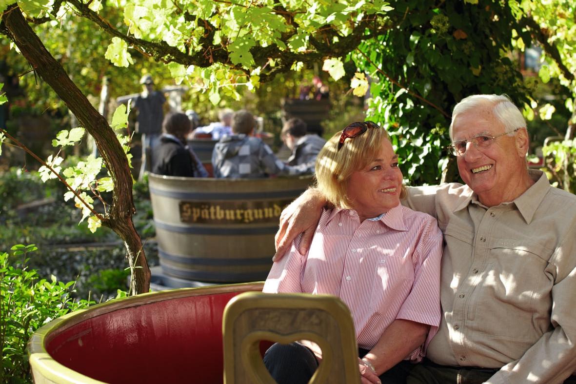 """Für eine """"Weinkübel""""- Fahrt ist man nie zu alt"""