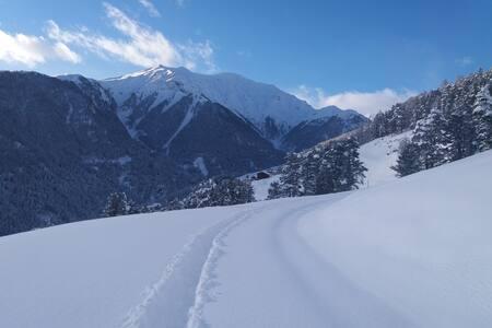 Winterweg Richtung Vnà