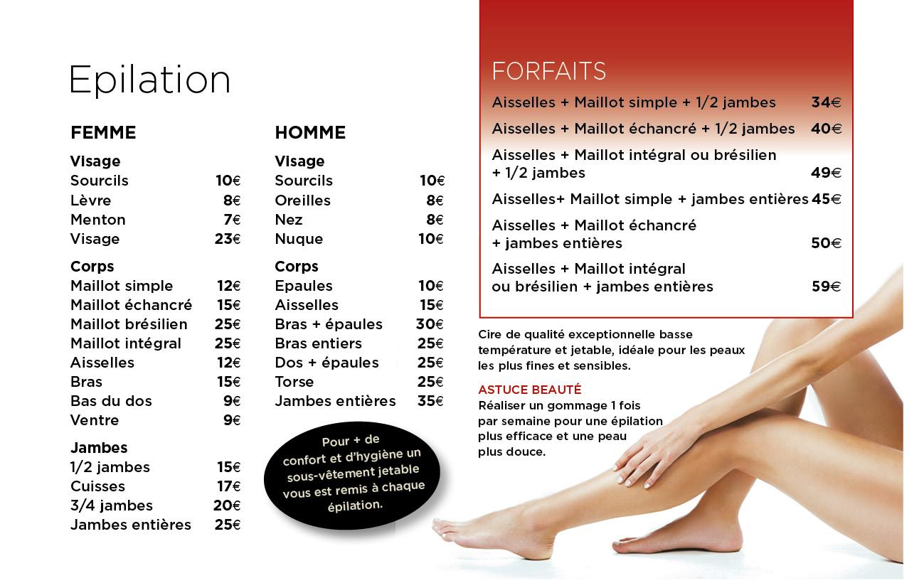 225c6f9628 EPILATION - Institut de beauté Spa Onglerie - Saint Aunes Montpellier 34