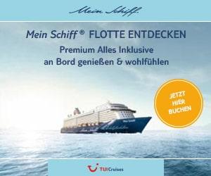 Rail & Fly TUI Cruise - Mein Schiff
