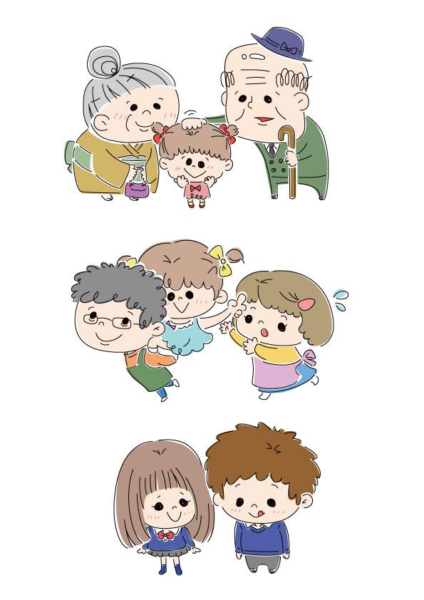 カラーイラスト 家族