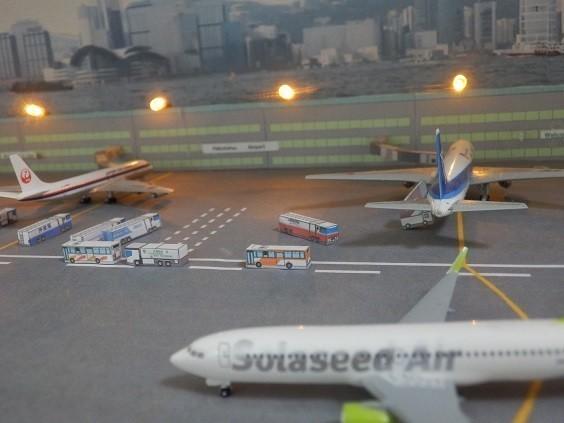 空港ジオラマ 家