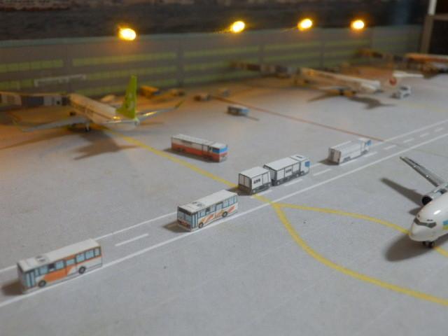 空港ジオラマ 車両