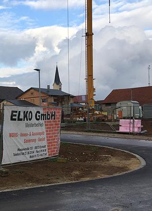 Foto: Baustelle vodes Meisterbetriebs ELKO GmbH - Wärmedämm-Verbundsysteme, Putzarbeiten Innen & Außen