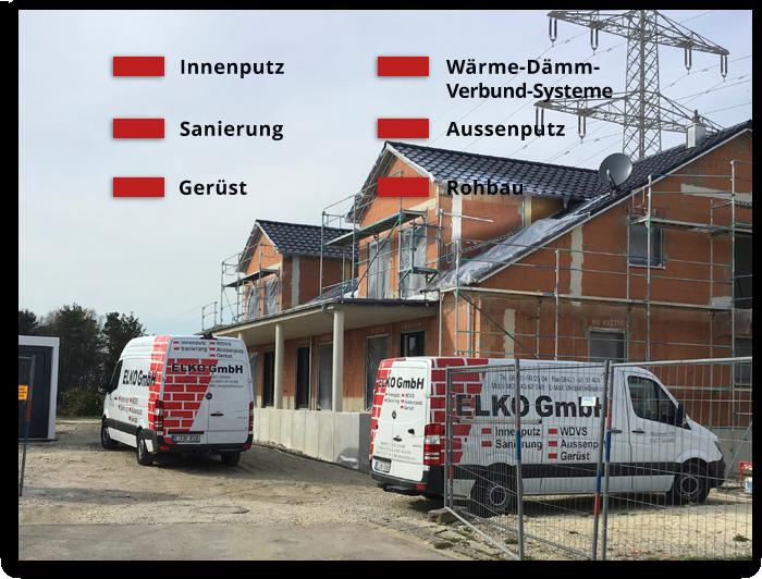 Foto: Meisterbetrieb ELKO GmbH in Eichstätt, Oberbayern - Innenputz, Aussenputz, Wärme-Dämm-Verbund-Systeme, Gerüst Rohbau & Sanierung