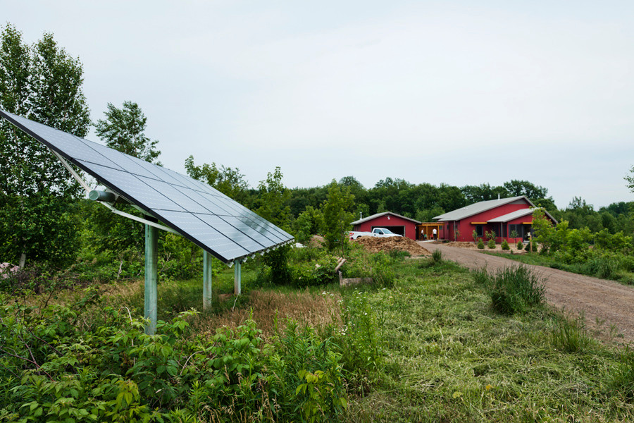 Owens-Pike Net Zero Energy Home: Approaching the home - and the power source!