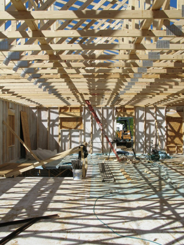 Owens-Pike Net Zero Energy Home: In construction - just love the shadows in this photo.