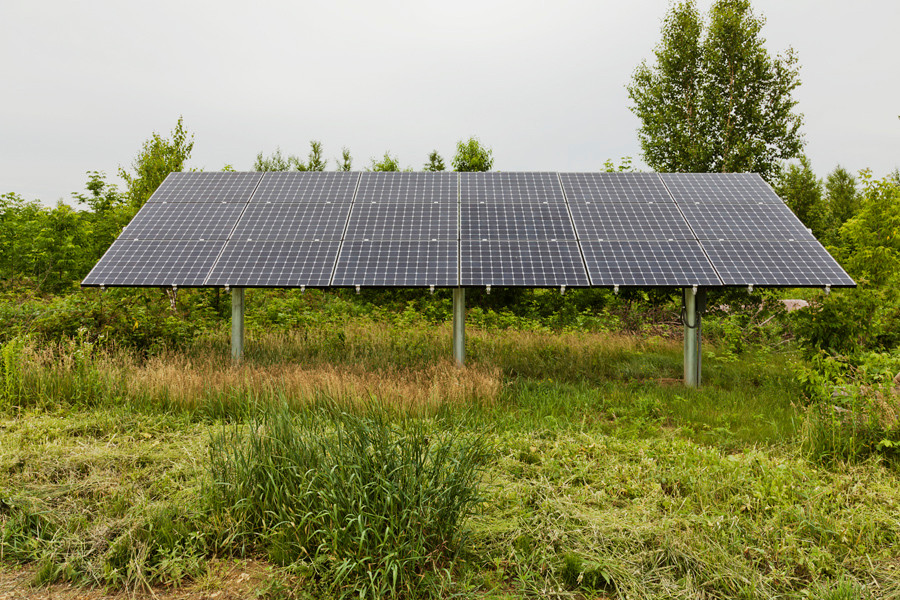 Owens-Pike Net Zero Energy Home: 5kw photovoltaic array makes more electricity than the house needs.