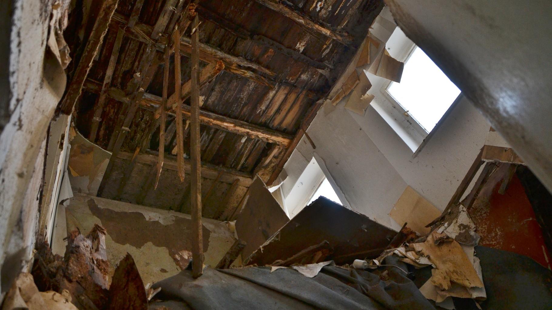 Kugelweg 2 Eingestürzte Decken
