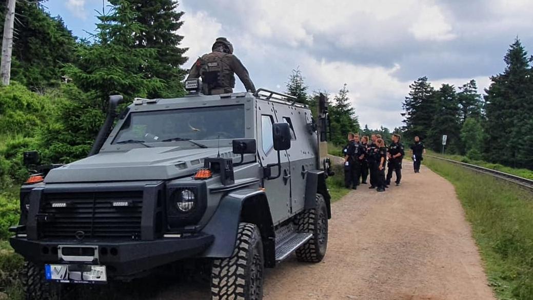 Was für ein Polizeiaufgebot anlässlich des Besuches des Bundespräsidenten auf dem Brocken