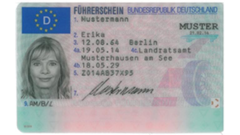 Führerschein 2013 - Vorderseite  Quelle: Bundesdruckerei GmbH