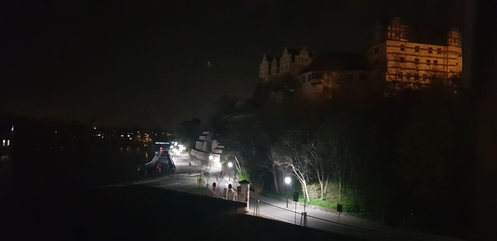 Schloss Bernburg ohne Beleuchtung
