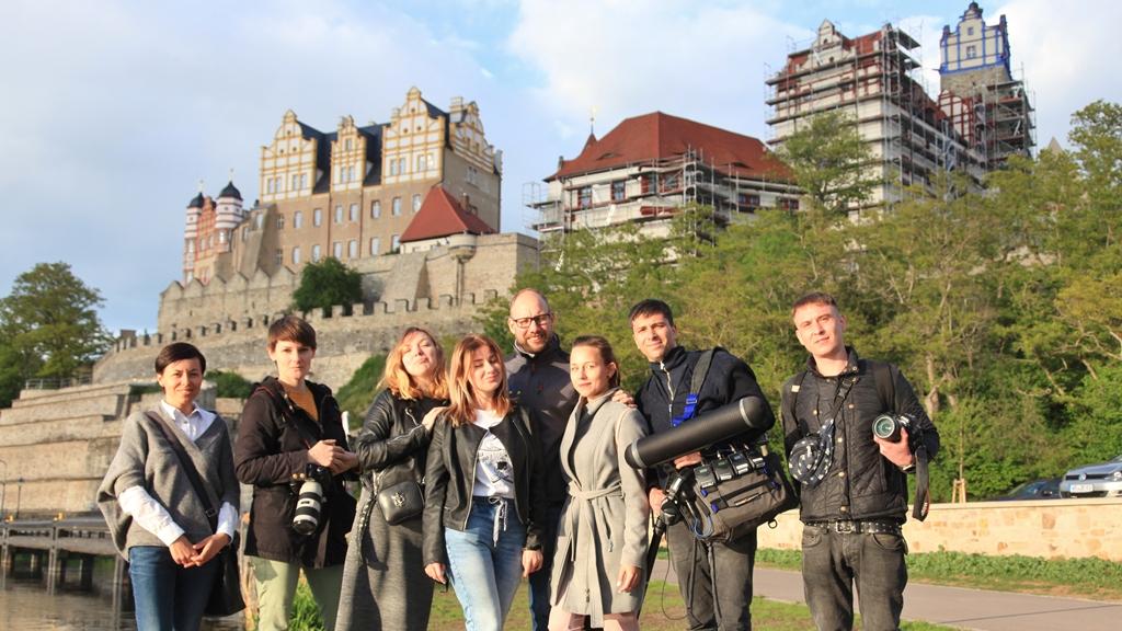 Größter ukrainische Fernsehsender 1plus1 berichtet über Bernburg