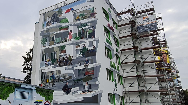 Fassadenkünstler Marco Brzozowski schafft perfekte Illusion