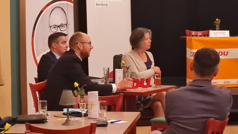 Tamara Zieschang, Ministerin für Inneres und Sport zu Gast in Bernburg