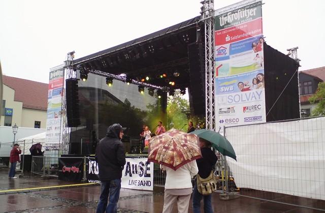Das Stadtfest Bernburg 2012 startet am Donnerstag im Dauerregen