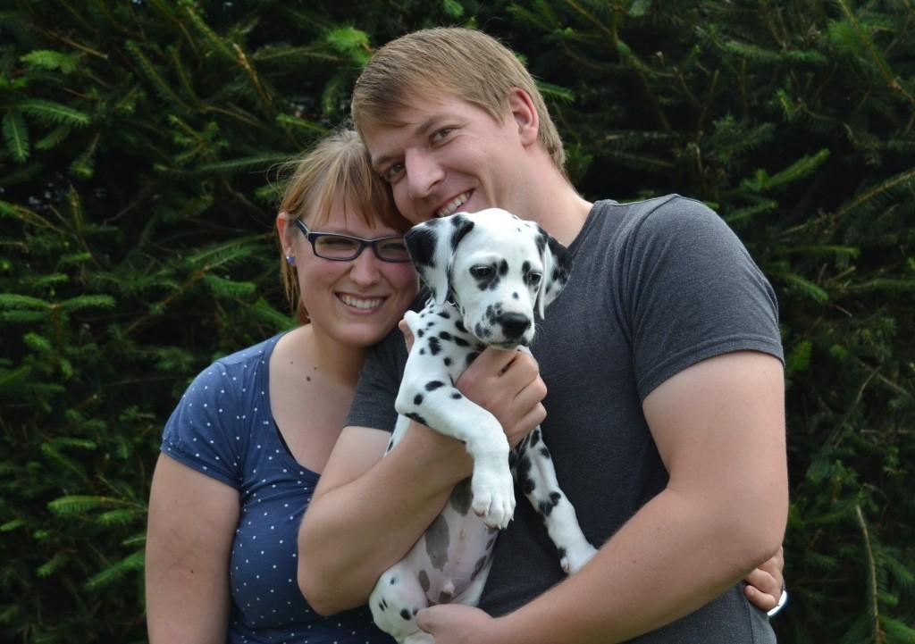 Stephanie und Matthias aus Jena entführten ihren kleinen Schatz Sam.