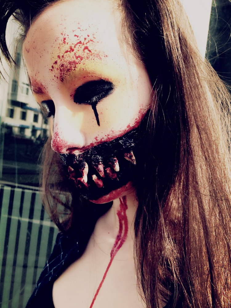 Halloween Make up Kölner Karneval
