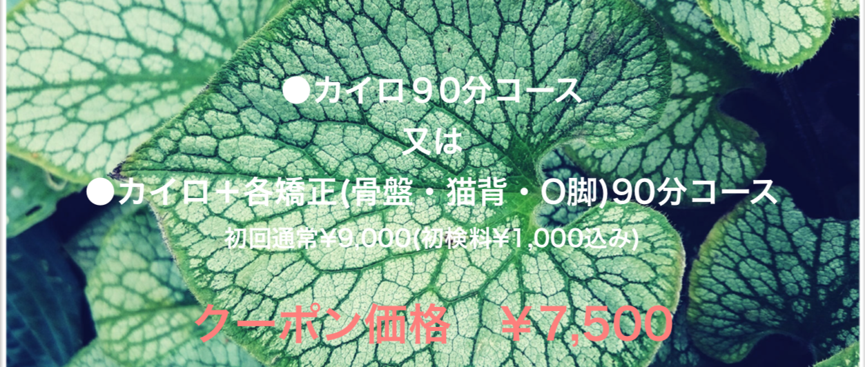 松崎カイロ 初回クーポン¥6000