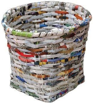 comment tresser un panier avec du papier journal vannerie de papier recup ecoclash partage. Black Bedroom Furniture Sets. Home Design Ideas